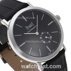Perfect Replica Piaget Altiplano XL Manual Winding with Black Dial-Leather Strap