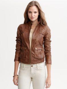 Banana Republic   Heritage leather moto jacket