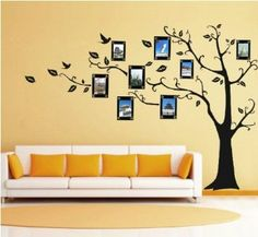 Amazon.com: Ankin Large Black Photo Picture Frame Tree Vine Branch Removable Wall Decor Decal Sticker Xl Left Facing: Arts, Crafts & Sewing