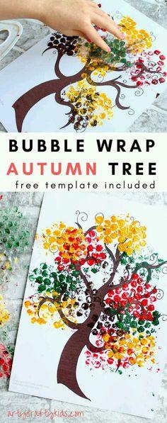 Beautiful Autumn Handprint Tre |