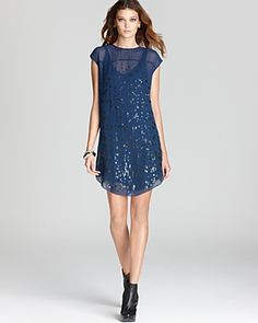 Rebecca Taylor - Abstract Sleeveless Sequin Dress