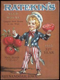 Ratekin's Seed 1915 Seed Catalog #diycrafts #ecrafty #seedcatalogs