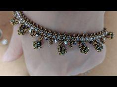 주렁주렁 팔찌 만들기 - YouTube Beaded Bracelets, Beads, Diamond, Jewelry, Fashion, Beading, Moda, Bead, Jewels