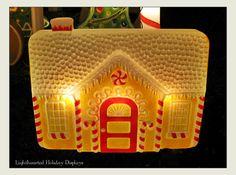 Union gingerbread house blowmold.