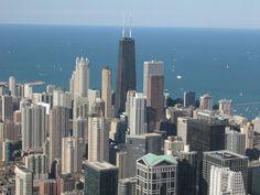 chicago, hanckock Building & lake michigan #rsna12