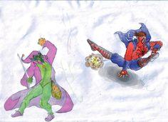Spider Man vs Green Goblin (Medieval) by ViniciusKings