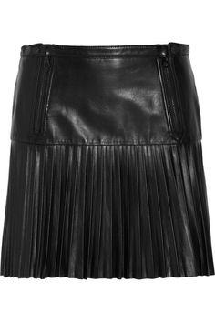 Rag & bone  Ezra pleated leather mini skirt