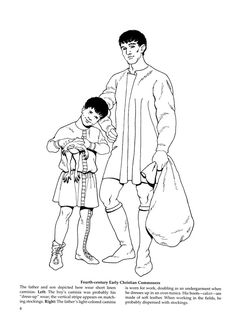Byzantine Fashions 6 / Byzantine Fashions / Kids printables coloring pages