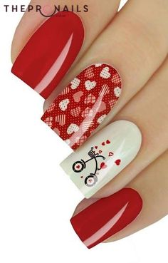 Is It cute? don't you want to have it? #cute #nails #valentine #inspiration #manicure