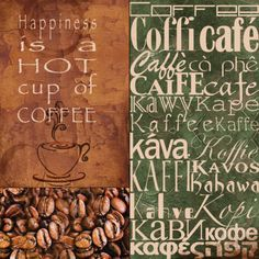 Coffee In Any Language Prints by Lisa Wolk at AllPosters.com