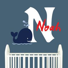 Check out this item in my Etsy shop https://www.etsy.com/listing/232539763/personalized-baby-boy-nursery-wall-decal