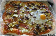Pizza crémeuse à la ricotta (1ère place du concours pizza !!)