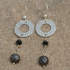 Hammered Hoop Dangles - These will go with anything! $12