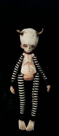 OOAK gothic doll ooak goth doll gothic art by TheDustyButtonJar