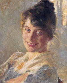 Marie Kroyer by her husband Danish Painter  Peder Severin Kroyer 185 -1909 http://en.wikipedia.org/wiki/File:Marie_kr%C3%B8yer_p.s._kr%C3%B8yer.jpg
