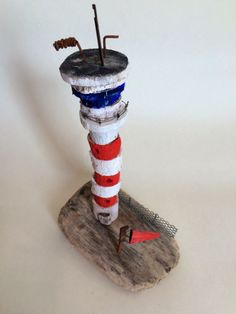 Airport control tower hand made in West-Cork, Ireland from driftwood. Airport Control Tower, West Cork, Cork Ireland, Driftwood, Buildings, Miniatures, How To Make, Handmade, Art