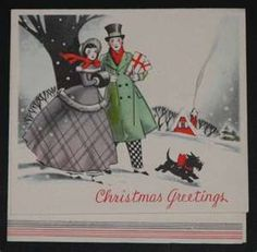 Ink Stains: Vintage Christmas Cards
