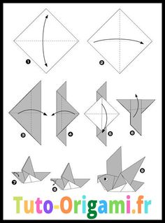 Feathered Tsuru Origami TUTORIAL (Riccardo Foschi) Origami is a superb effort to make use of your spare time or even … Origami Ship, Origami Easy, Origami Paper, Diy Paper, Paper Crafts, Origami Examples, Easy Origami Animals, Origami Turtle, Wall Ornaments
