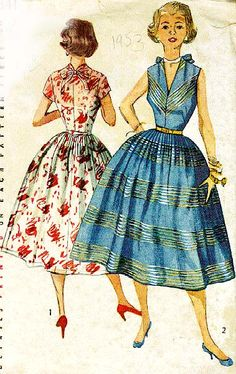 Pattern Company: SIMPLICITY Pattern #: 4341 Archive Number: 1953.66.URI Collection: University of Rhode Island Year: 1953 Description: Dress