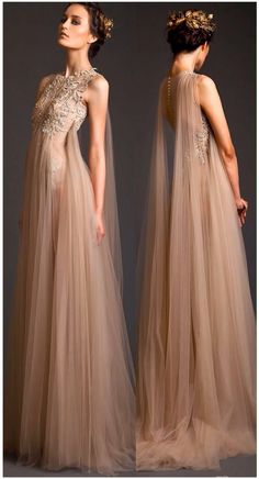 Gorgeous nude long gown