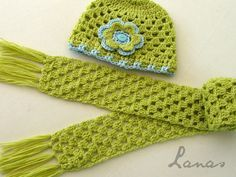 "Lanas Hilos: SCARF + HAT ""Granny Style"""
