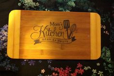 Mom's Kitchen Cutting Board  on Etsy, $22.00 CAD