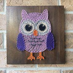 String Art  Owl  Woodland  Purple  Nursery  Kids  Baby