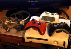UPDATED Xbox 360, 120 GB,  3 controllers, 2 Headphones, 1 Keypad, 25 GAMES PLUS  #Microsoft