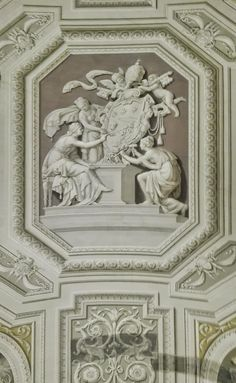 Ceiling in the Vatican Museums. It's painted, not sculpted!