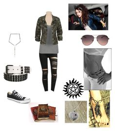 """""""Late for school ;3"""" by zezanna ❤ liked on Polyvore featuring Converse, MANGO and Pamela Love"""