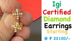 Igi Certified Diamond Earrings with Price | Diamond Earrings Designs wit... Earrings With Price, Designer Earrings, Diamond Earrings, India, Jewelry, Diamond Stud Earrings, Jewellery Making, Jewerly, Jewelery