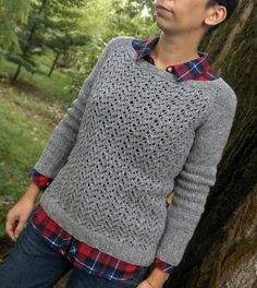 Ravelry: Silver Arrow pullover pattern by Ela Torrente