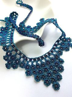 FREE SHIPPING Dark Teal / Turquise Crochet by CuteLittleThingsByEA