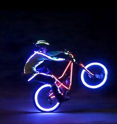 Mountain bikers enlighten the trails after dark