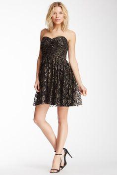 Jill Stuart Strapless Metallic Dress by Non Specific on @HauteLook