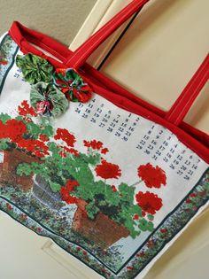 Recycle Vintage Linen Calendar Towels Need Vintage Linens for crafting - find 'em at Kitsch-y-Cool Vintage in Charlotte!