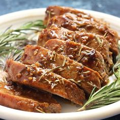 Honey Dijon Pork Tenderloin Recipe - Belle of the Kitchen This Honey Dijon Pork Tenderloin is roasted in the oven and topped with a delicious glaze that you'll want to drink with a spoon! It's so easy to make, too! Pork Tenderloin Recipes, Roast Brisket, Beef Tenderloin, Pork Roast, Pork Chops, Mississippi Pot Roast, Cooking Recipes, Pork Recipes, Pork Meals