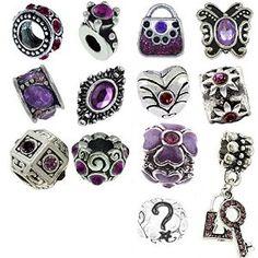 Purple Birthstone Charm Bracelet Beads http://www.amazon.com/Timeline-Trinketts-Rhinestone-Birthstone-Bracelet/dp/B00CTEPK1O