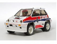 The Tamiya R/C Honda City Turbo (WR-02C) Model Kit is an R/C assembly radio controlled model kit based on the popular WR-02 2WD chassis.