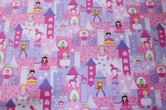 Princess, Unicorns and Castles Cotton Woven Fabric * In Stock, ready to ship!