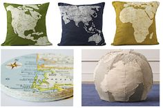 Bump to Baby Gear: Decorating with Maps {Design}