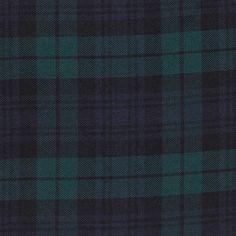 Tissu tartan à carreaux bleu noir et vert