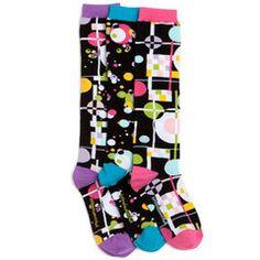 Far Out Knee High Socks #funkysocks #littlemissmatched