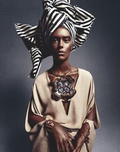 Ondria Hardin in 'African Queen' by Sebastian Kim for Numéro, March 2013.