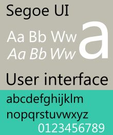 Segoe UI is a free and usable system font. See this specimen, sample for it's style. Selection: www.rotterdam-vormgeving.nl