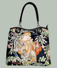 Dámská taška s motivem Alfons Mucha