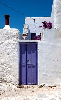 Lila... In the Chora of Amorgos Island, Greece   by Christine L