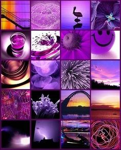 Purple Icons Rock Collage Picture