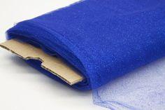 Glitter Tulle Fabric Bolt Roll 40 yards - Royal Blue