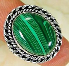Lab #malachite & 925 silver #handmade #elegants ring size q qb32-17369,  View more on the LINK: http://www.zeppy.io/product/gb/2/391420871048/